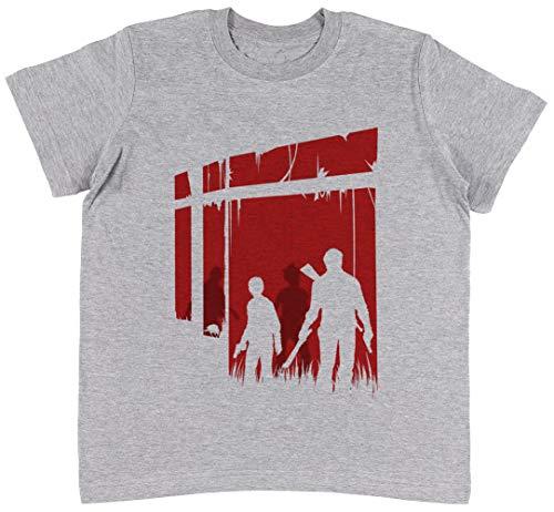 Zuletzt Menschen Grau T-Shirt Jungen Mädchen Größe XL | Unisex Kids Grey T-Shirt Size XL (Last Of Clicker The Us)