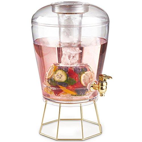VonShef Dispensador de Bebidas con Infusor de Frutas de 8L