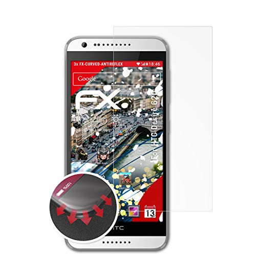 atFolix Schutzfolie passend für HTC Desire 620 Folie, entspiegelnde & Flexible FX Bildschirmschutzfolie (3X)