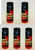 5 Stück Pfefferspray Protect (40ml) extra stark -Breitstrahl