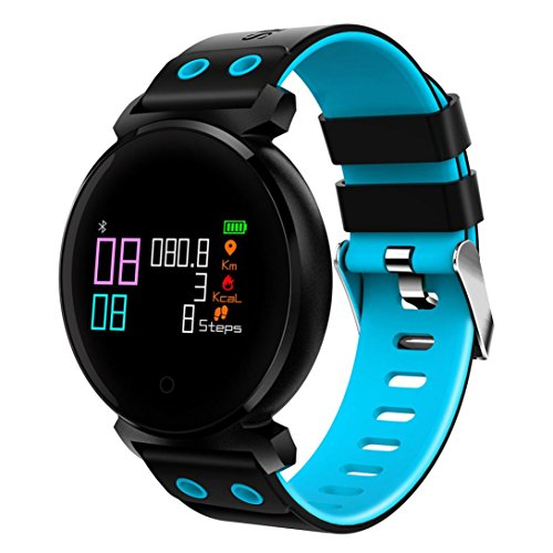 Bescita Bluetooth Smartwatch Uhr Intelligente Armbanduhr Wasserdicht Fitness Tracker Armband Sport Uhr mit/Kamera/Blutdruck-Test/Telefon finden/Schrittzähler/Herzfrequenz-Messgerät/Schlaftracker/Romte Capture Kompatibel mit Android/iOS (Blau)