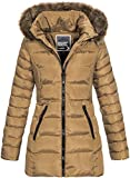 Geographical Norway Damen Steppmantel Winterparka Anies Kapuze Taupe L