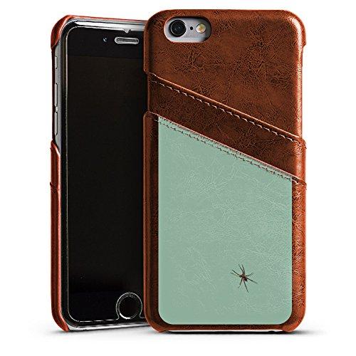 Apple iPhone 6 Housse Étui Silicone Coque Protection Araignée Insecte Araignée Étui en cuir marron