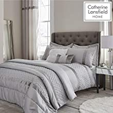 Catherine Lansfield Sequin Cluster King Duvet Set Silver