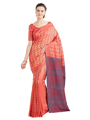 Viva N Diva Sarees For Women's New Collection party wear Silk Orange...