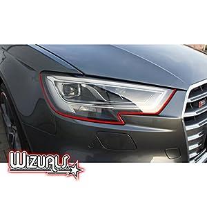 Devil Scheinwerfer Aufkleber Stripes in rot passend f/ür Ihr Fahrzeug