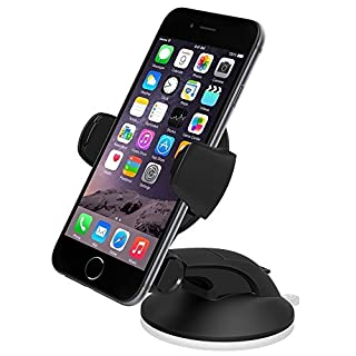 ULTRICS® Universal In Car Windscreen Mount Suction Holder Cradle For Mobile iPhone GPS MP4, Universal Car Vehicle Truck Van and Desktop Mount and Holder for Mobile Phones, GPS PDA PSP Apple iPhone iPod MP3 MP4 / Sat Nav (Garmin, TomTom GPS units), HTC, Nokia Lumia, Samsung Galaxy, Motorola Moto G etc. Fully Adjustable Suction Mount
