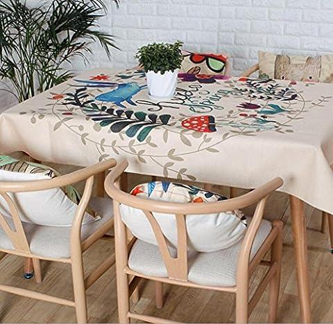 SQL Leinen Tischdecke Tischdecken Couchtisch rechteckig Gartenpflanze Blätter . 90*140