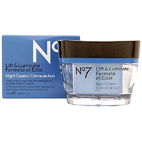 Boots No7 Lift and Luminate Night Cream, 1.6 Fl. Oz. by Boots -