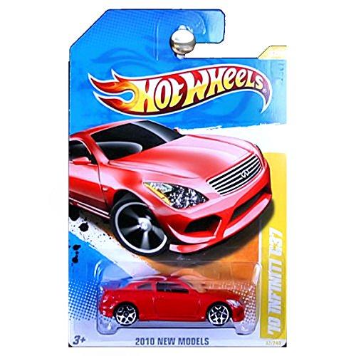 Hot Wheels 2010-032 New Models Infiniti G37 RED 1:64 Scale (Hot Infiniti Wheels)