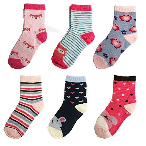 Libella 12er Kinder Mädchen Socken Kids Strümpfe Kindersocken bunt 2112 27-30