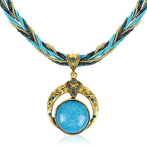 Signore-Signori® Handmade Antique Turquoise Retro collar del sueño, Vintage Joyería viene en una caja de regalo libre/bolsa