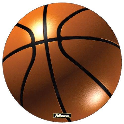 Fellowes Brite Tapis de souris rond Ballon de basket (Import Royaume Uni)