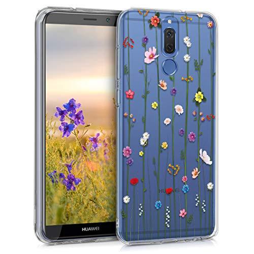kwmobile Huawei Mate 10 Lite Hülle - Handyhülle für Huawei Mate 10 Lite - Handy Case in Wildblumen Ranke Design Mehrfarbig Transparent