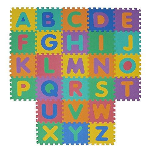VeloVendo® Alfombra Puzzle Infantiles con Certificado CE & TÜV | 3 24m² Suelo de espuma EVA | Tapete de Juego | Alfombra suave para Bebé | Manta Juegos (Letras + Números)