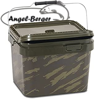 Angel Berger Bucket Angeleimer Boilie Eimer Futtereimer (10l Eckig)