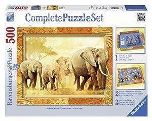 Ravensburger - Complete Puzzle: set Gigantes de Africa, puzzle de 500 piezas (14893 6)
