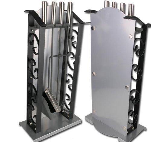 Kaminbesteck Schmiedeeisen Ofen Kamin 5 Teile Modell ELECSA 1054