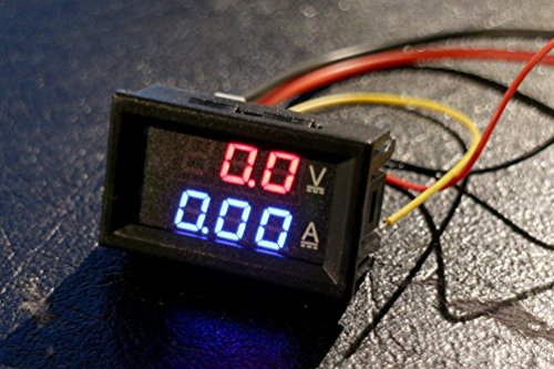 DC 30V 10A Voltmeter Ammeter Blue+Red LED Amp Dual Digital Volt Meter Gauge for Arduino, 3d Printer, Raspberry Pi -
