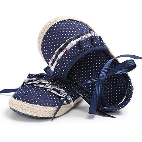 Igemy 1Paar Baby Kleinkind Mädchen Krippe Schuhe Prinzessin Blume weichen Prewalker Soft Sohle Anti-Rutsch Schuhe Blau