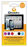 qmadix Home Button Aufkleber für iPhone/iPad/iPod–Retail Verpackung–Multi