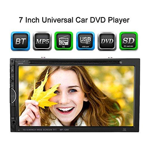KKmoon 7inch Universal 2 Din Autoradios DVD/USB/SD Lecteur HD Belle Interface Utilisateur Multimédia BT Radio