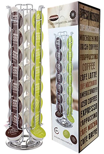 DOLCE GUSTO 24 / 32 COFFEE POD ROTATING HOLDER RACK, CAPSULE STAND,32 Test