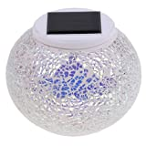 Baoblaze Discokugel Party Lampe Beleuchtung mit RGB Farbwechsel, Wasserdicht Solarleuchte Solar Tischlampe mit Bunten Disco-Lichteffekten für Haus Garten Hochzeit Party Zubehör - Typ 3