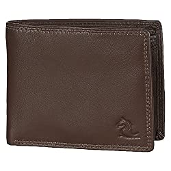 Kara Tan Color Genuine Leather Two Fold Wallet for Men