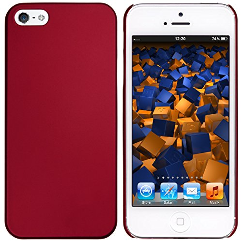 mumbi Schutzhülle für iPhone SE 5 5S Hülle (harte Rückseite) matt rot Rot