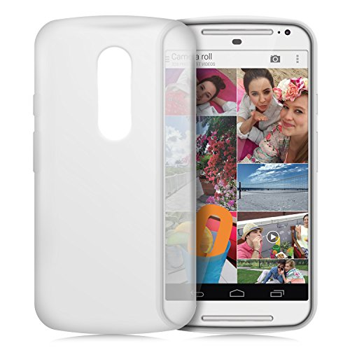 Orzly® - FlexiCase for New 2014 MOTO-G (5 Inch / 2nd Gen) - Protective Flexible Soft Gel Case - Silicon Phone Cover / HandyTasche / Schutzhülle / Gel Hülle Schütz in WEIß Farbe - Entwurf exklusiv für MOTOROLA MOTO G 2 SmartPhone / Mobille Handy (Neu 5-Zoll Version der MotoG - Generation 2 Modell) (Moto G Case Orzly)
