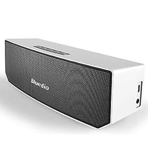 Bluedio BS-3 (Camel) Portabile Casse Bluetooth Diffusore Altoparlante Revolution 3D Neodymium Magnets/52mm Ultra-big Drive Units/Rich Bass Wireless Soundbar/Excellent 3D Surround System Retail-Gift Packgage (Bianco)