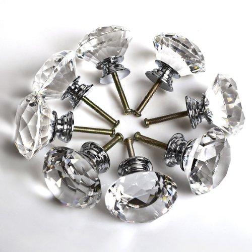 lot-de-8-boutons-de-porte-ou-tiroir-armoire-de-cuisine-40-mm-cristal-transparent-taille-diamant-avec