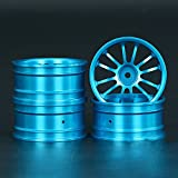 Zhuhaixmy Blue Tyre Rim Hub Reifen Rand Nabe for 1:10 Sakura XI S/Tamiya/Kyosho Flating Racing/ Drift Cars