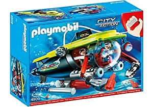 Playmobil - 4909 - Jeu de Construction - Sous-Marin avec Explorateurs