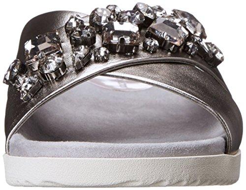 Easy Spirit Marvina Damen Leder Sandale Dark Silver