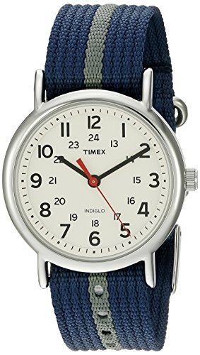 Timex Weekender Slip-Thru Watch - Navy/Gray  available at amazon for Rs.5149