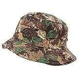 Cappello Alla Pescatora Fantasia Militare - Unisex (59 cm) (Militare)