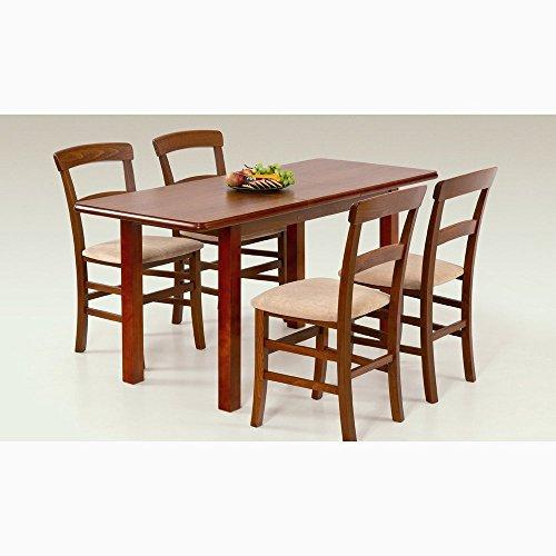 JUSTyou Table de Salle à Manger Extensible Dinner 120/157 en Bois Cerise (LxlxH): 120÷158/68/74 cm