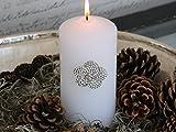 Unbekannt wunderschöner Kerzenspieß Blüte - Metall - mit Strasssteinen- Shabby Chic Landhaus