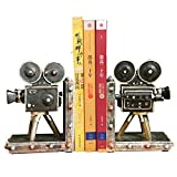 #4: TIED RIBBONS Vintage Camera shaped Non Skid Bookends Magazine Books organizer holder for Office Home