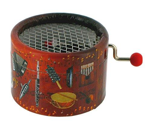 Runde Spieluhr / Spieldose / Musikdose mit Handkurbel aus Pappe - Das Thema von Tapion - Dragon Ball Z (Dragon Tapion Ball)