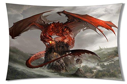 Personalisierte Home Bettwäsche Kissenbezüge DIY Western Dragon Cool Bild für Kinder Eine Seite Rechteck Kopfkissen Standard Größe 20x 30-2, color12, 20x30inch (Kinder-western-bettwäsche)