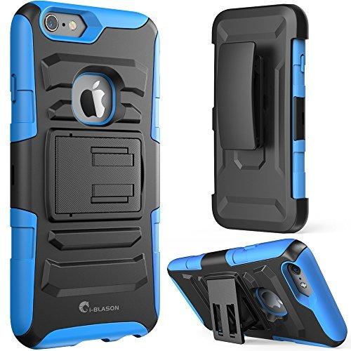 iPhone 6 / 6S Case, i-Blason Apple iPhone 6 / 6S 4.7 Case Schutzhülle Tasche - Prime Serie 2-Schicht Holster Hülle mit Standhälter, schwenkbaren Gürtel mit Locking-Mechanismus für iPhone 6 (blau)