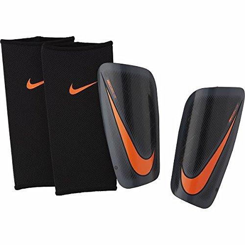 Nike Mercurial Lite Schienbeinschoner, Dark Grey/Black/Total Orange, M (Schienbeinschoner Fußball Mercurial)
