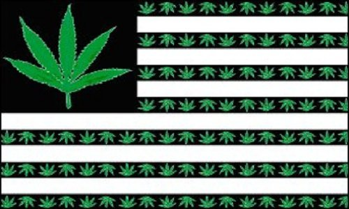 Home and Holiday Flags Marijuana Leaf USA Flag Flag Pot Party Banner Hippie Pennant Dorm Room Sign 3x5 -