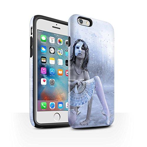 Officiel Elena Dudina Coque / Brillant Robuste Antichoc Etui pour Apple iPhone 6S+/Plus / Fille de Lune Design / Un avec la Nature Collection Masque d'Hiver