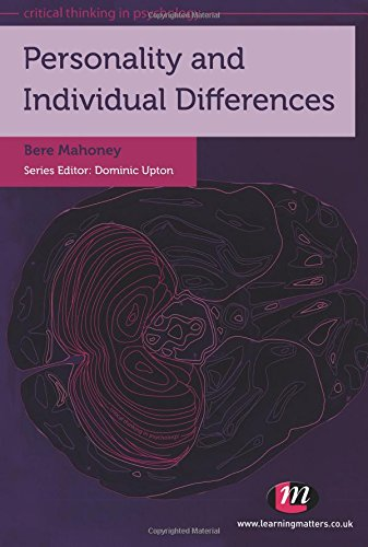 Personality and Individual Differences (Critical Thinking in Psychology Series)