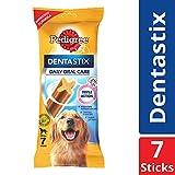 Pedigree Dentastix, Oral Care Dog Treat for Adult Large Breed(25 kg+) Dogs, 270 g Weekly Pack (7 Sticks)