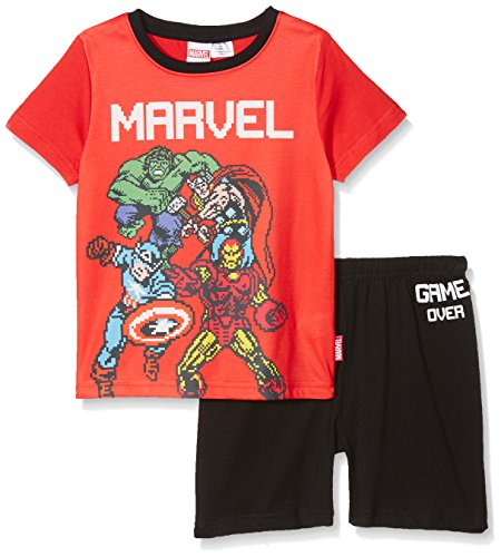 Marvel Pixelated Gaming, Conjuntos de Pijama para Niños, Rojo (Red 016), 9-10...